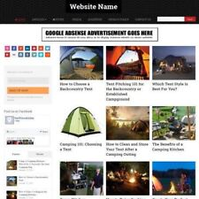 CAMPING SHOP - Home Based Make Money Website Business For Sale + Amazon + Domain