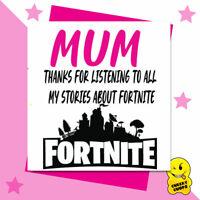 HAPPY BIRTHDAY MUM FORTNITE GAME GREETINGS CARD LOVE FUNNY RUDE  XBOX PS4 m61