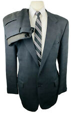 Vintage Joseph Abboud Mens 42L Gray Plaid 2 Piece Suit With Dress Pants 36Wx32L