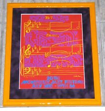 ANDY WARHOL KEITH HARING 1986 MONTREUX JAZZ FESTIVAL FRAMED POSTER PRINT