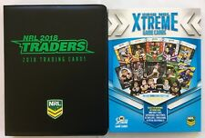 2018 NRL TRADERS & XTREME ALBUMS - BOTH WITH COMPLETE BASE SETS