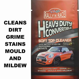 MAZDA MX5 CONVERTIBLE HOOD, SOFT TOP, FABRIC & VINYL ROOF CLEANER  STAINS MOULD