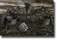 HARLEY DAVIDSON MOTORCYCLE ROUTE 666 GRIM REAPER ART PRINT