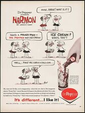Vintage magazine ad DR PEPPER from 1962 Harmon cartoon Frosty Pep Johnny Hart