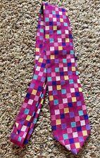 CHARLES TYRWHITT Colorful Squares 100% Silk Neck Tie