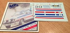 1/43 Decals Ford Escort RS 2000 Droop CASTROL 78 Rally  Trofeu Peter  Clarke