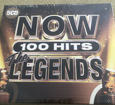 More details for now 100 hits - the legends [5 cd] new & sealed box set, freepost in uk