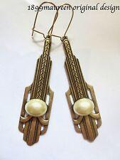 ART Deco Art Nouveau Stile Vintage Orecchini Perla iconico stile 1920 S 1930 S