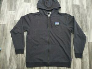 Patagonia Full Zip Logo Hooded Sweatshirt Mens L Large Hoodie Organic Cotton