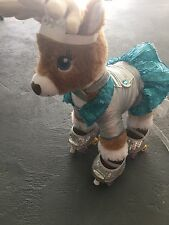 Build-a-bear Reindeer Prancer With Outfit And Roller Blades