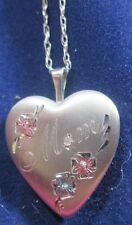 STERLING SILVER MOVABLE MOM LOCKET WITH AN 18 INCH CHAIN
