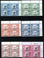 NYASALAND QEII 1963 Definitive Complete Set BLOCKS OF FOUR SG 188 to SG 198 MNH