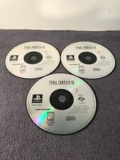 FINAL FANTASY VII 7 Sony Playstation Game (3 Discs) Works 1997 PS1 Disc Only VGC