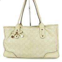 Auth GUCCI Princy GG Guccissima Ribbon Bow Leather Shoulder Tote Bag 12087b