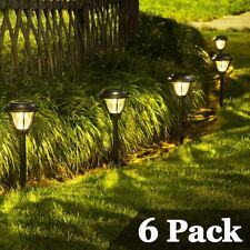 Solar Path Lights Outdoor 6 Pack Led Pathway Lights Waterproof for Yard Patio