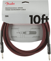 Genuine Fender Professional Series Guitar/Instrument Cable - RED TWEED - 10' ft