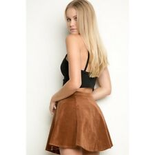 Last one! brandy melville brown button down Byra  Corduroy skater skirt Taylor S