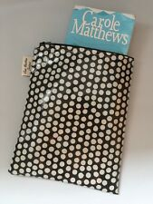 Book Cover-Book Bag-Kindle Protector-Diary Cover-Book Sleeve-black Spot Oilcloth