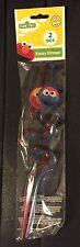 Sesame Street Elmo Cookie Monster Krazy Straws Birthday Party Supply Favors