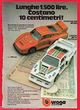 Pubblicità Advertising BBURAGO 1982 Porsche 935 Momo/Lancia Beta Alitalia