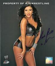 WWE TOTAL DIVA ROSA MENDES SIGNED 8X10 PHOTO FILE PROMO w/COA NXT WWF STUDIO #2