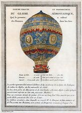 """The Montgolfier Brothers' Hot Air Balloon"" (1786) — Giclee Fine Art Print"