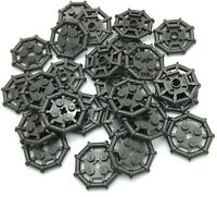 Lego Lot of 25 New Pearl Dark Gray Plates Modified 2 x 2 Bar Frame Octagonal