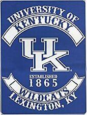 "Kentucky Wildcats Plush 60"" by 80"" Twin Size Blanket - NCAA"