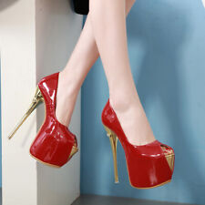 Big Size Women Super 16.5CM High Heel Club Sandals Platform Peep Toe Party Shoes