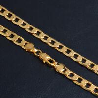 18k Goldkette 4MM Königskette Panzerkette vergoldet für Herren Damen Männer G6