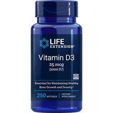 Vitamine D3 1000IU 250 Gélatine Capsules OS Densité Système Immunitaire D