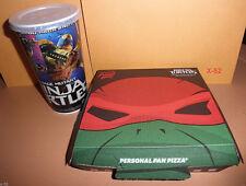 Tmnt Raphael exclusive Pizza Box + Cup teenage mutant ninja turtles Raph toy