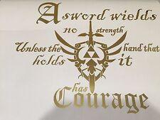 "Vinyl Wall Decal. Sticker The Legend of Zelda - Triforce Metallic Gold (22""x18"")"