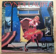 CYNDI LAUPER SIGNED AUTOGRAPH SHE'S SO UNUSUAL VINYL RECORD ALBUM!