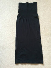 Ladies Black Strapless Bodycon Dress Size 10/12