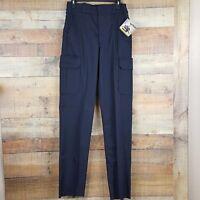 Elbeco Tek Twill E614R Uniform Pants Cargo Navy Blue Sizes 30,,48,Unhemmed