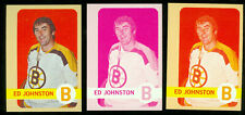 1972-73 TOPPS # 13 ED JOHNSON PROGRESSIVE PROOF SET of 7 MINT UNIQUE 2-LOA's