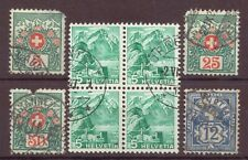 Switzerland, Issues of 1882, 1910, 1936, Used OLD