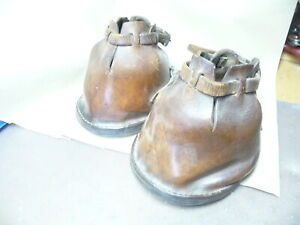 "PAIR OF LEATHER HORSE ""SHOES"". VICTORIAN / EDWARDIAN"