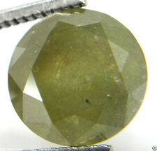 5.26Cts Diamond Big Natural Real Greenish Yellow  Color 10.73-10.82x7.08MM