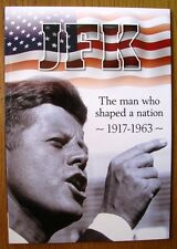 """*JOHN F KENNEDY 1917-1963 64 PAGE  BOOKLET """"THE MAN WHO SHAPED A NATION"""" A4 SIZE"""