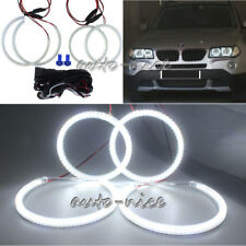 4X For BMW E83 X3 E46 ti Compact SMD Angel Eyes Halo Rings 105mmx2+131mmx2 White