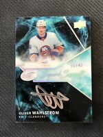 2019-20 UPPER DECK ICE OLIVER WAHLSTROM ROOKIE SUPERB SCRIPT AUTO #ed 11/49