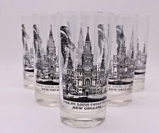 Vtg New Orleans St. Louis Cathedral Drinking Iced Tea Highball Glass Tumblers