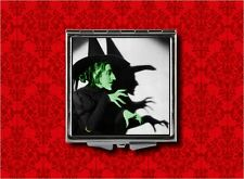 WICKED WITCH GREEN VINTAGE HALLOWEEN WICCA MAKEUP POCKET COMPACT MIRROR