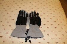 Black Diamond Women's grey, white and black, winter gloves size med.