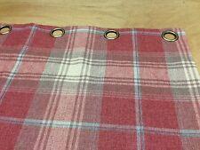 Prossimo controllo versatile Stirling Tartan Rosso Foderate Con Occhielli Tende HAND Sewn