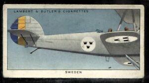 Lambert Butler, AEROPLANE MARKINGS, 1937, Sweden Royal Air Force, #41