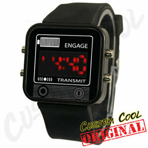 Knight Rider KITT Communicator Comlink Themed LED Digital Watch Replica Prop