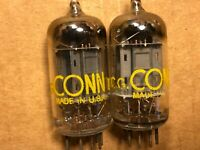 Matched Pair Sylvania 12AU7 Tubes 1958 Long Plate D Getter Test Great Balanced I